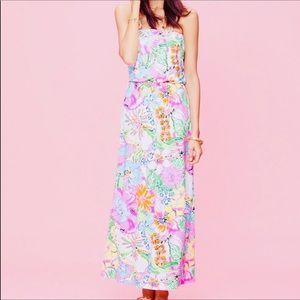 Lilly Pulitzer Target Strapless Maxi Dress XL